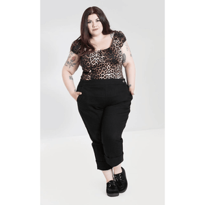 Charlie Denim Capris- Black  - Hell Bunny - Sour Cherry Designs - Plus Sized Pin Up | Charlie Denim Capris- Black  - Hell Bunny