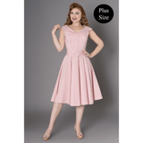 Freda Swing Dress - Sheen - Plus Size - Sour Cherry Designs - Plus Sized Pin Up - Plus Size Pin Up