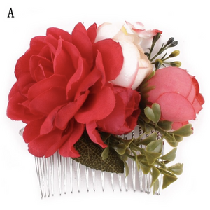Hair Comb - Bouquet - Plus Size Pin Up - Sour Cherry Designs - Plus Sized Pin Up | Hair Comb - Bouquet - Plus Size Pin Up