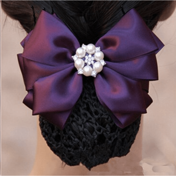 Hair Snood with Bow- various colours - Plus Size Pin Up - Sour Cherry Designs - Plus Sized Pin Up - Plus Size Pin Up  | Hair Snood with Bow- various colours - Plus Size Pin Up
