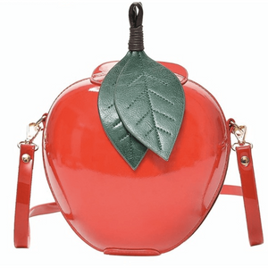 Handbag PU Leather - Apple Shape Red or Green - Sour Cherry Designs - Plus Sized Pin Up | Handbag PU Leather - Apple Shape Red or Green