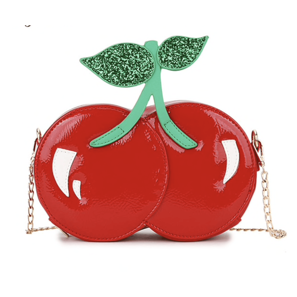 Handbag PU Leather - Red Cherries - Sour Cherry Designs - Plus Sized Pin Up | Handbag PU Leather - Red Cherries
