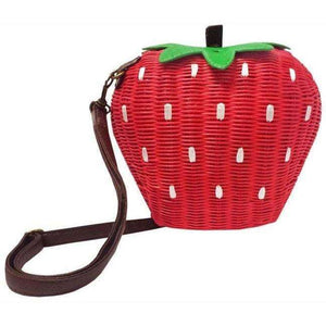 Handbag Strawberry Basket - Sour Cherry Designs - Plus Sized Pin Up | Handbag Strawberry Basket