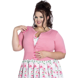 Sour Cherry Designs, Plus Size Pin Up, Plus Size Ladies Clothes, Retro Clothing, Retro Dress | Hell Bunny Wendi Cardigan- Various Colours  - Short Sleeved - Various Colors
