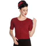 Hell Bunny Wendi Cardigan- Various Colours  - Short Sleeved - Various Colors - Sour Cherry Designs - Plus Sized Pin Up - Plus Size Pin Up
