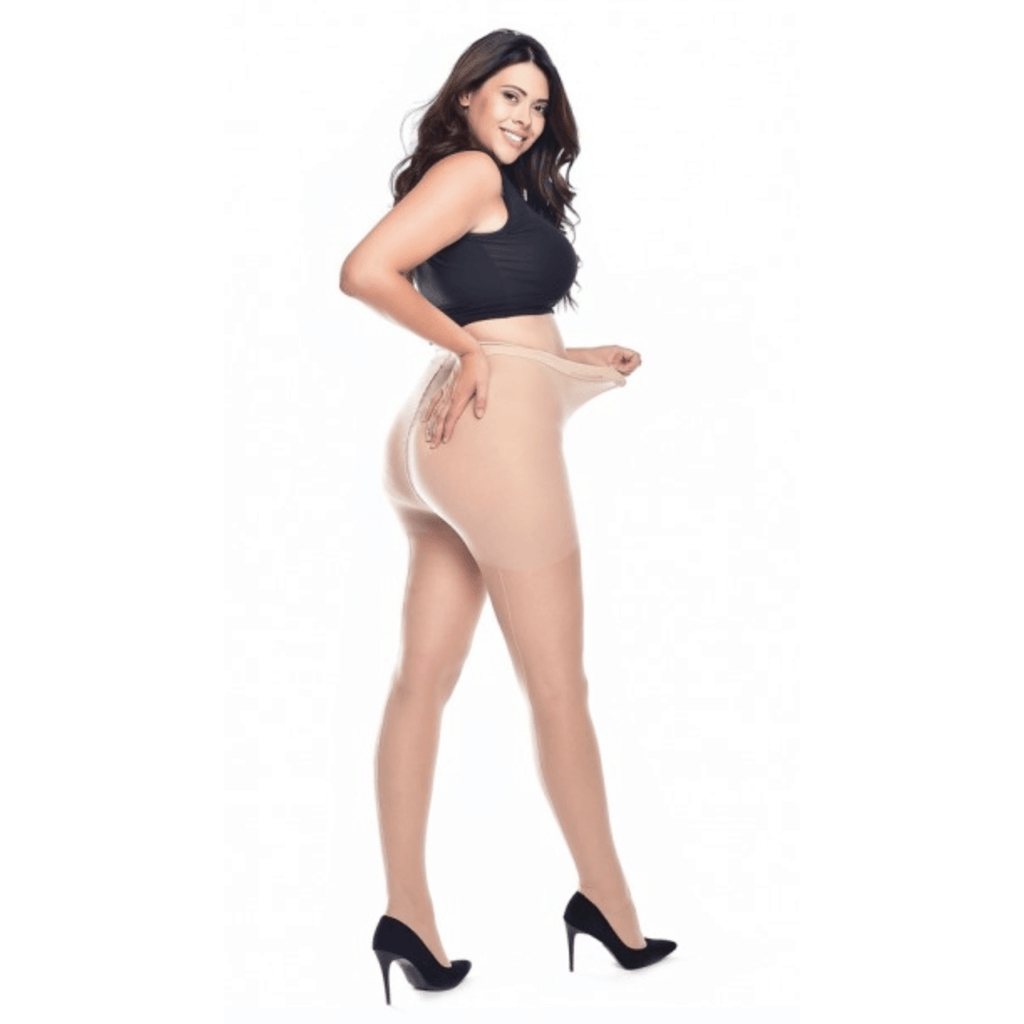 Jive seamed  Curvy Super Stretch Tights - Pamela Mann - Nude/Nude - Sour Cherry Designs - Plus Sized Pin Up - Plus Size Pin Up  | Jive seamed  Curvy Super Stretch Tights - Pamela Mann - Nude/Nude