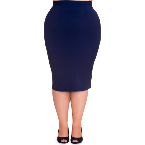 Joni Pencil Skirt - Hell Bunny - Blue - Sour Cherry Designs - Plus Sized Pin Up - Plus Size Pin Up  | Joni Pencil Skirt - Hell Bunny - Blue
