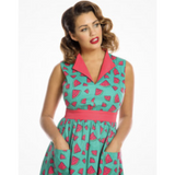 Joy -  Watermelon Print Swing Dress - Lindy Bop - Sour Cherry Designs - Plus Sized Pin Up - Plus Size Pin Up
