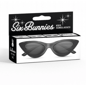 Kids Six Bunnies  Sunglasses - Black Cat Eye - Plus Size Pin Up - Sour Cherry Designs - Plus Sized Pin Up | Kids Six Bunnies  Sunglasses - Black Cat Eye - Plus Size Pin Up