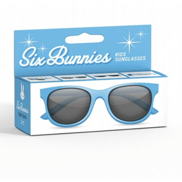 Kids Six Bunnies  Sunglasses - Blue Wayfarer - Plus Size Pin Up - Sour Cherry Designs - Plus Sized Pin Up | Kids Six Bunnies  Sunglasses - Blue Wayfarer - Plus Size Pin Up