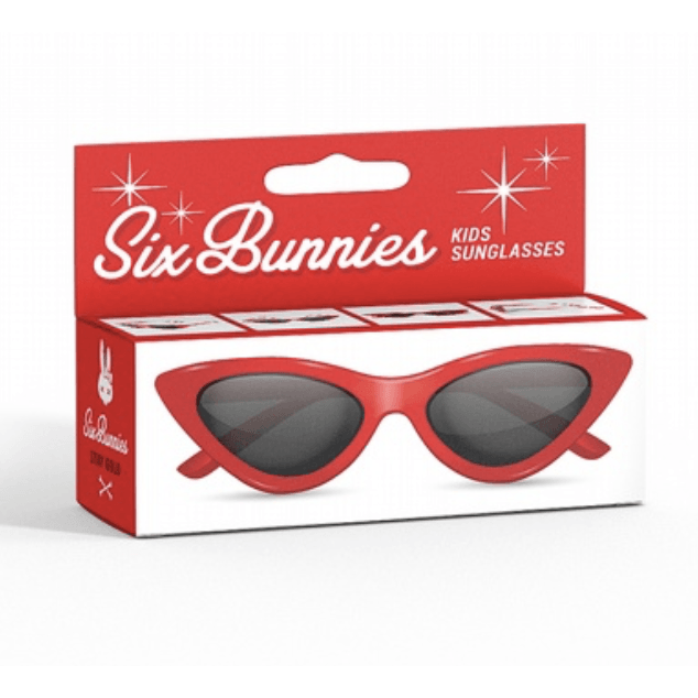 Kids Six Bunnies  Sunglasses - Red Cat Eye - Plus Size Pin Up - Sour Cherry Designs - Plus Sized Pin Up - Plus Size Pin Up  | Kids Six Bunnies  Sunglasses - Red Cat Eye - Plus Size Pin Up