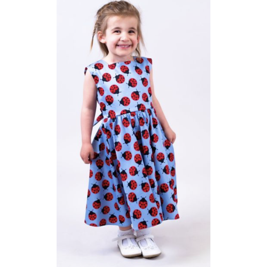 Little Lady V Swing Dress - Ladybug - Sour Cherry Designs - Plus Sized Pin Up - Plus Size Pin Up  | Little Lady V Swing Dress - Ladybug