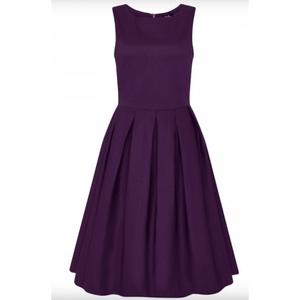 Lola Purple Swing Dress - Dolly & Dotty - Plus Size - Sour Cherry Designs - Plus Sized Pin Up | Lola Purple Swing Dress - Dolly & Dotty - Plus Size