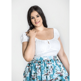 Melissa Top - White- Hell Bunny - Sour Cherry Designs - Plus Sized Pin Up - Plus Size Pin Up
