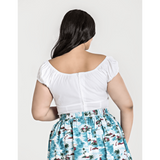 Melissa Top - White- Hell Bunny - Sour Cherry Designs - Plus Sized Pin Up
