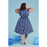 Nautical Swing Dress -  Lady V - Sour Cherry Designs - Plus Sized Pin Up - Plus Size Pin Up