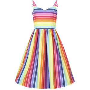 Over The Rainbow 50's  Dress - Hell Bunny - Plus Size - Sour Cherry Designs - Plus Sized Pin Up - Plus Size Pin Up  | Over The Rainbow 50's  Dress - Hell Bunny - Plus Size