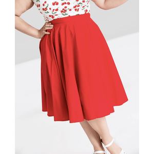 Paula 50's Skirt Red - Hell Bunny - Plus Size - Sour Cherry Designs - Plus Sized Pin Up | Paula 50's Skirt Red - Hell Bunny - Plus Size