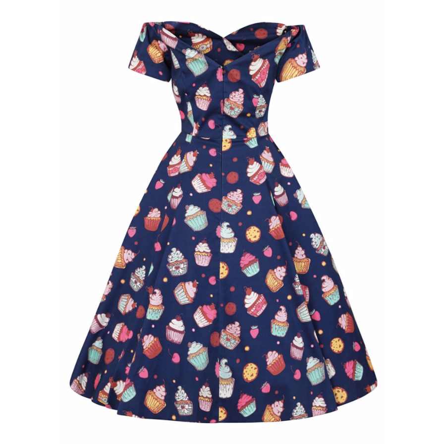 Piece Of Cake -  50's  Dress -  Lady V - Sour Cherry Designs - Plus Sized Pin Up - Plus Size Pin Up  | Piece Of Cake -  50's  Dress -  Lady V