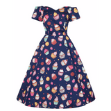 Piece Of Cake -  50's  Dress -  Lady V - Sour Cherry Designs - Plus Sized Pin Up