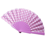 Polkadot Fabric Hand Fan - Plus Size Pin Up - Sour Cherry Designs - Plus Sized Pin Up - Plus Size Pin Up