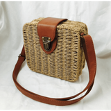 Rattan Woven  Handbag- Natural - Plus Size Pin Up - Sour Cherry Designs - Plus Sized Pin Up