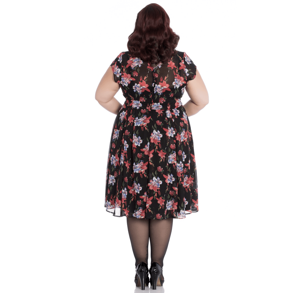 Sour Cherry Designs, Plus Size Pin Up, Plus Size Ladies Clothes, Retro Clothing, Retro Dress | Rayna  Dress - Hell Bunny - Plus Size
