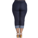 Ronnie Demin Capris - Hell Bunny - Sour Cherry Designs - Plus Sized Pin Up - Plus Size Pin Up