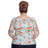 Somerset Top - Hell Bunny - Plus Size - Sour Cherry Designs - Plus Sized Pin Up - Plus Size Pin Up