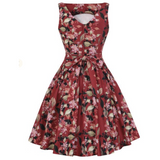 Tea Dress -Scarlet Serenade - Lady V London - Sour Cherry Designs - Plus Sized Pin Up