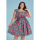 Watermelon Swing Dress -  Lady V - Sour Cherry Designs - Plus Sized Pin Up - Plus Size Pin Up