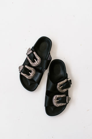 Studded Leather Slides
