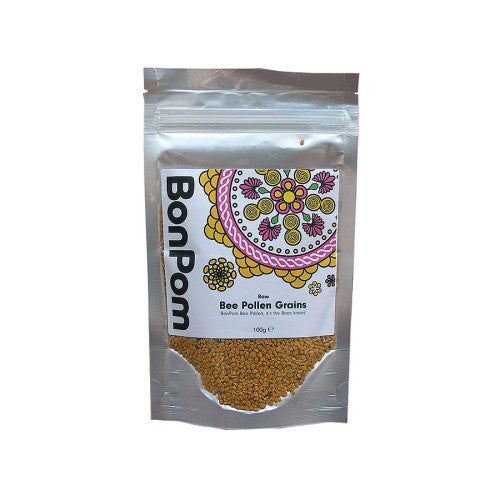 bee pollen grains by bon pom and available at shore being natural foods in worthing