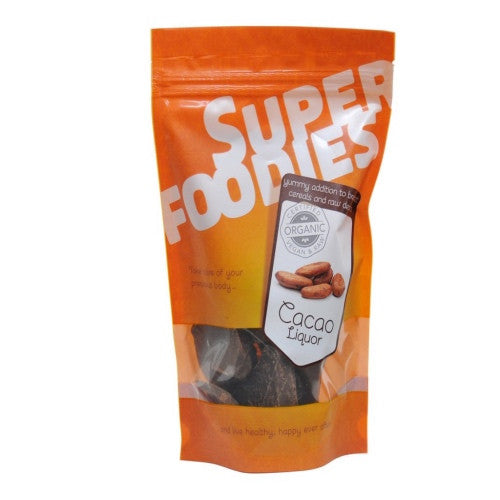 organic cacao liquor by super foodies available at shorebeing natural foods in worthing