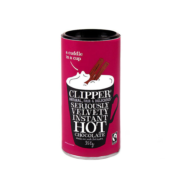 instant hot chocolate made by clipper 350g