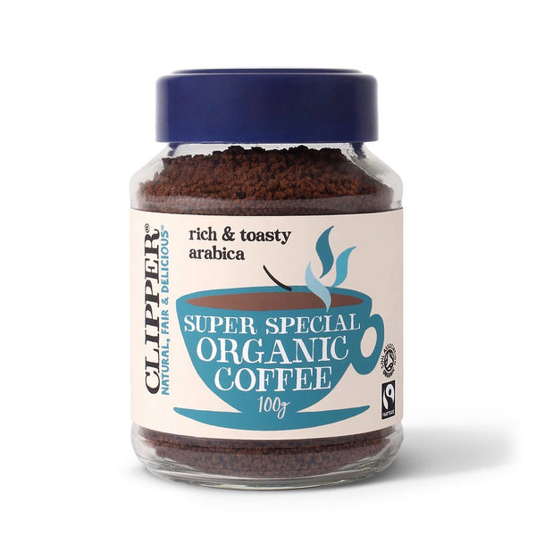 an organic coffee by clipper and available at shorebeing natural foods in worthing