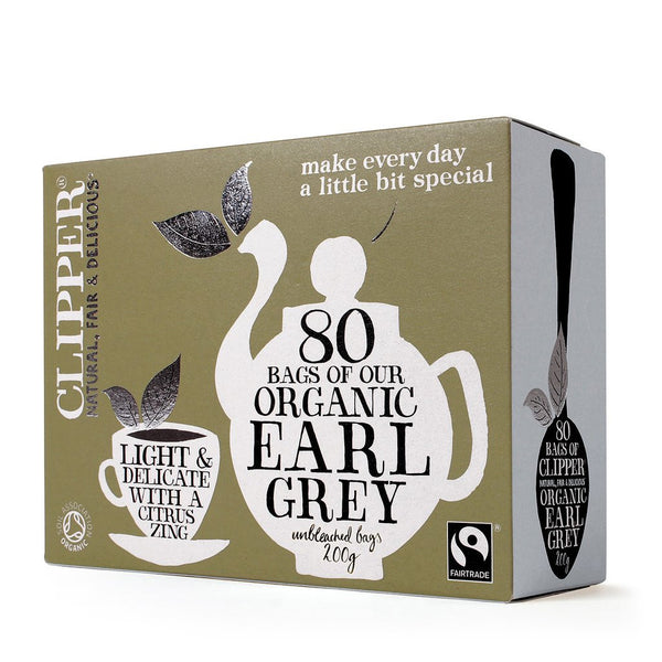 earl grey tea 80 bags by clipper fair trade product