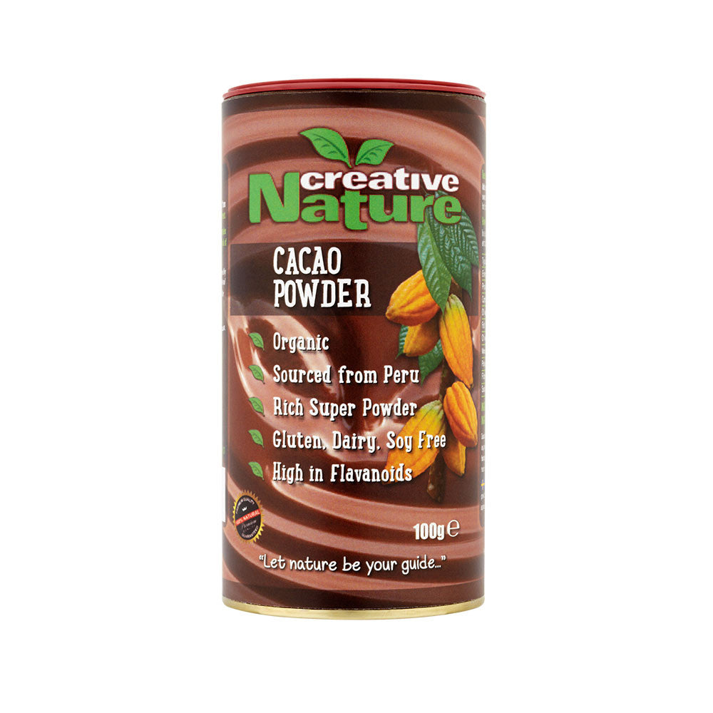 cacao powder which is organic and made by creative nature