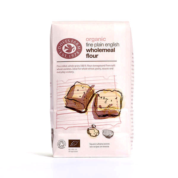 organic English wholemeal flour by doves farm
