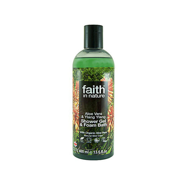 aloe vera ylang ylang shower gel and foam bath by faith in nature