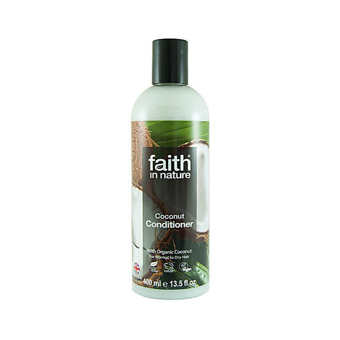 faith in nature coconut conditioner available at shorebeing in worthing