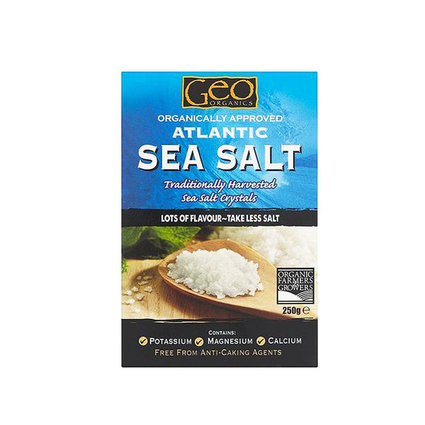 atlantic sea salt by geo organics which has added potassium and magnesium and is boxed