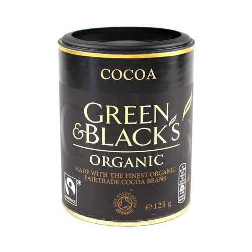 green and blacks cocoa available at shorebeing natural foods in worthing