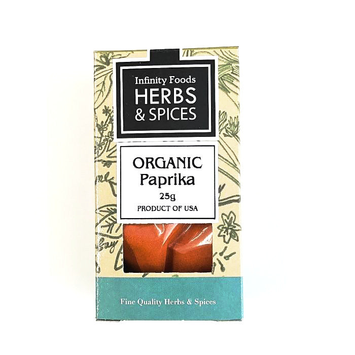 organic paprika by infinity foods 25g box