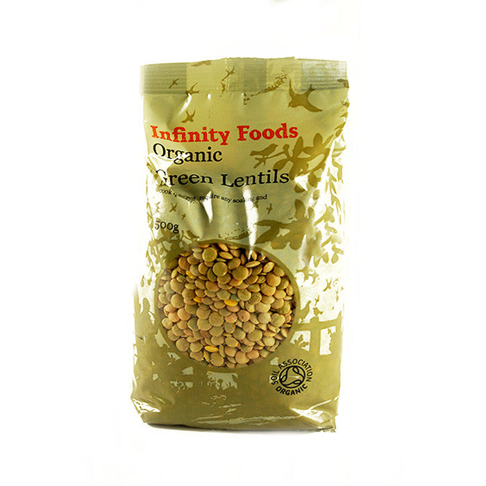 organic green lentils sold at shorebeing natural foods in worthing