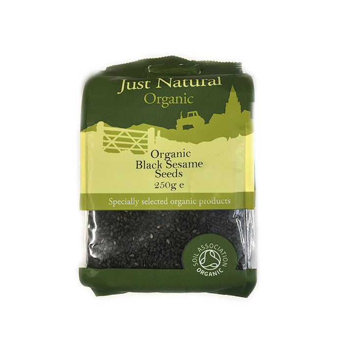 organic black sesame seeds by just natural