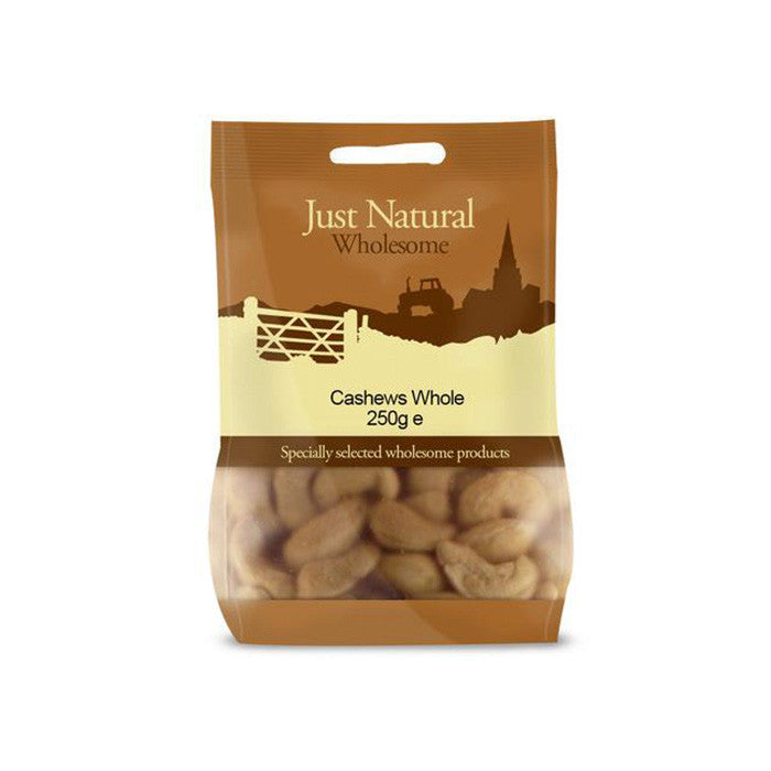 whole cashew nuts by just natural and sold at shorebeing in worthing