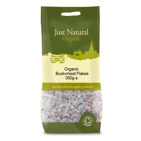 organic buckwheat flakes by just natural and sold at shorebeing in worthing