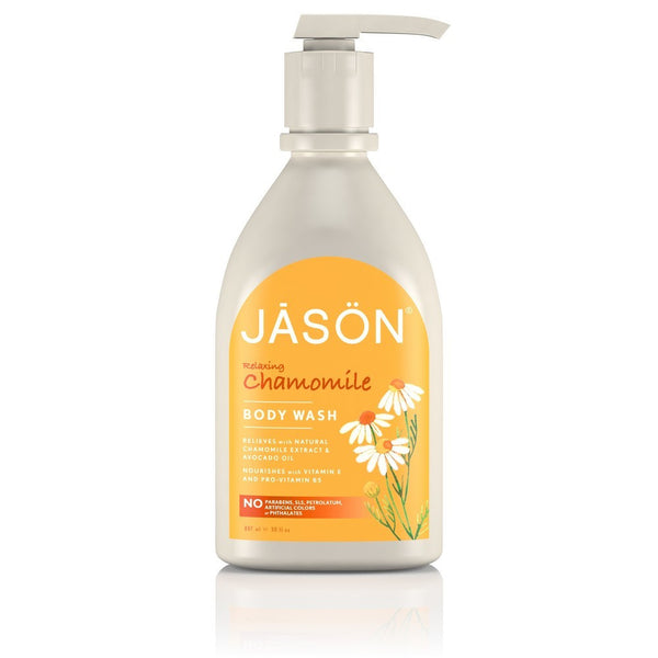 chamomile body wash by Jason and sold at shorebeing in worthing