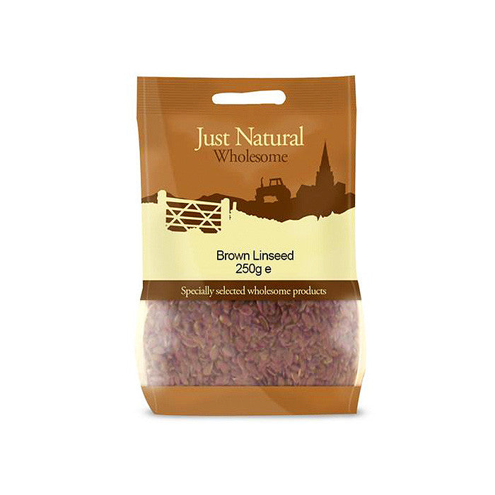 brown linseed by just natural and sold in worthing at shorebeing natural foods